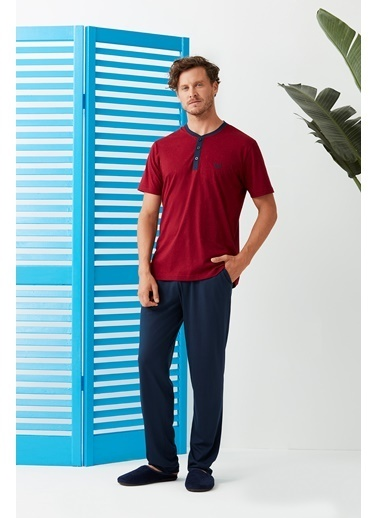 Dagi Pijama Takım Bordo